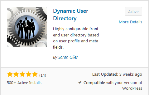 Dynamic User Directory Plugin